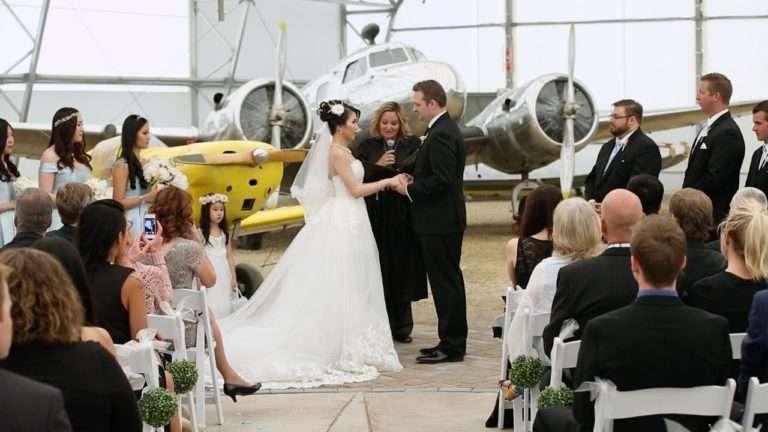 Andrew & Grace | Aviation Wedding at The Hangar