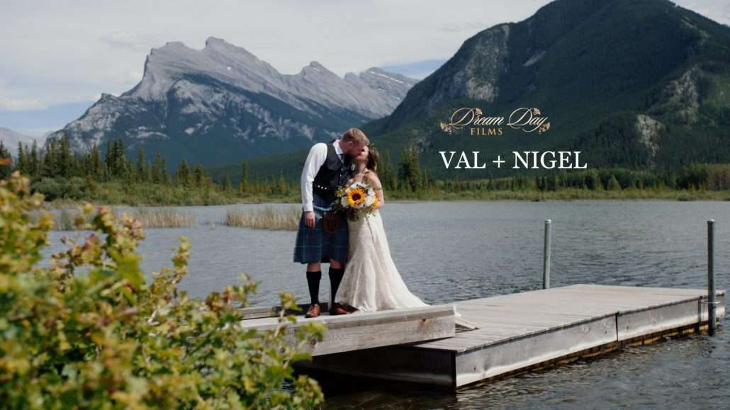 Video still of Val and Nigel kissing on Vermilion Lake dock