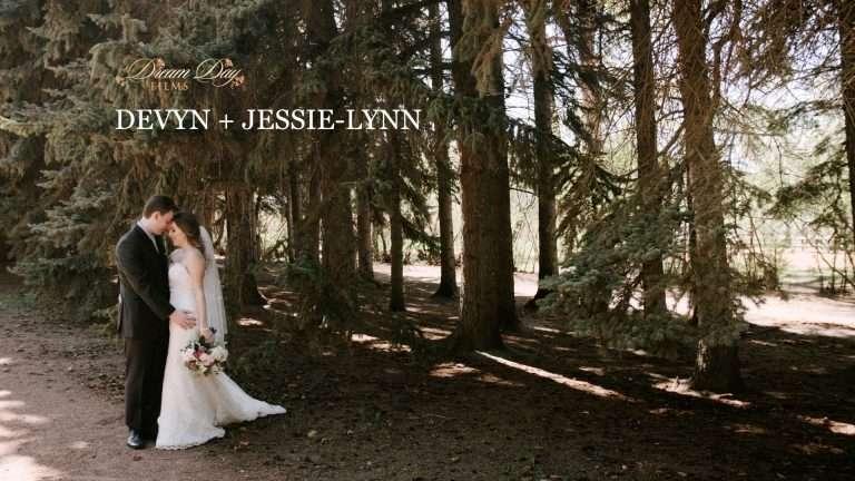 Video overlay showing Devyn and Jessie-Lynn in Edworthy Park