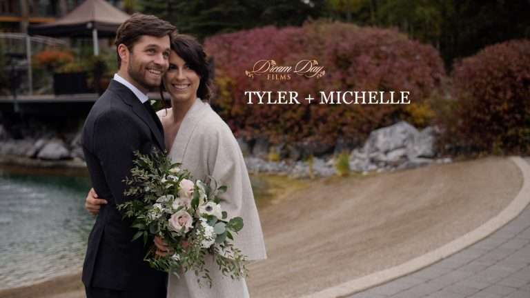 Video overlay image of Tyler and Michelle