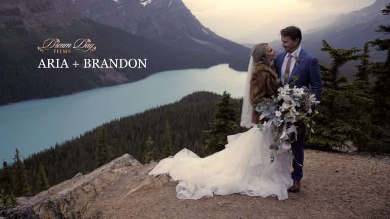 Fearless Cliffside Peyto Lake Elopement