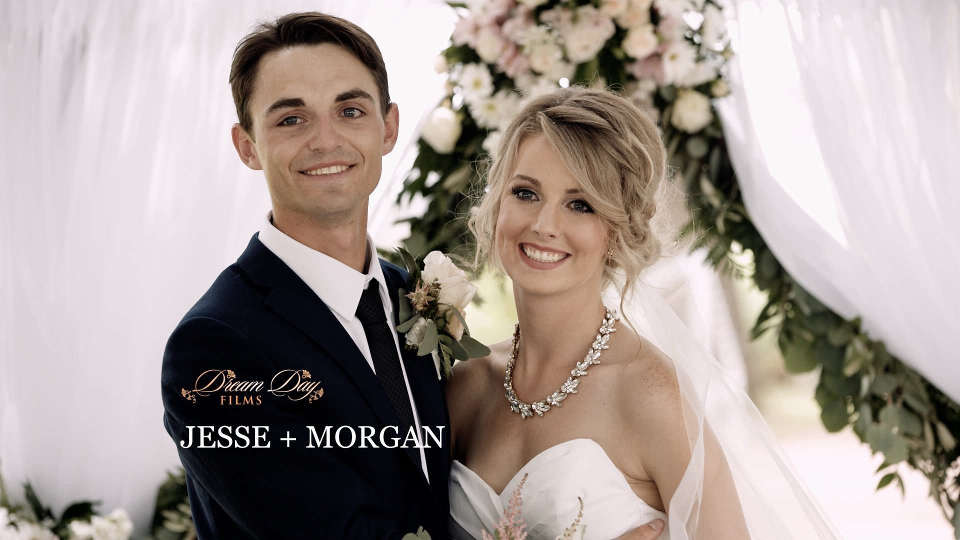 video thumbnail of Jesse and Morgan during their Brooks wedding