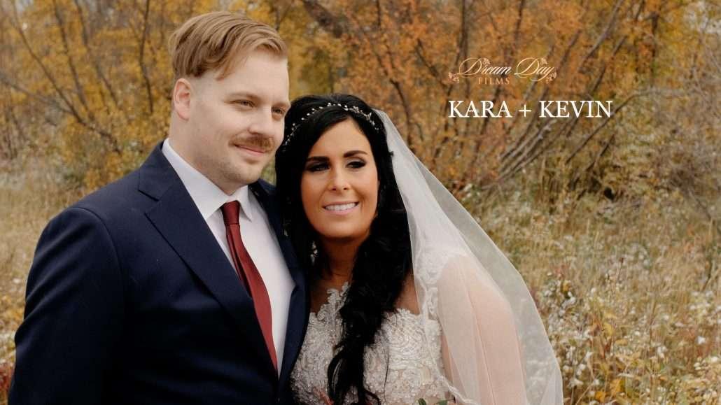 Calgary wedding video still of Kara and Kevin