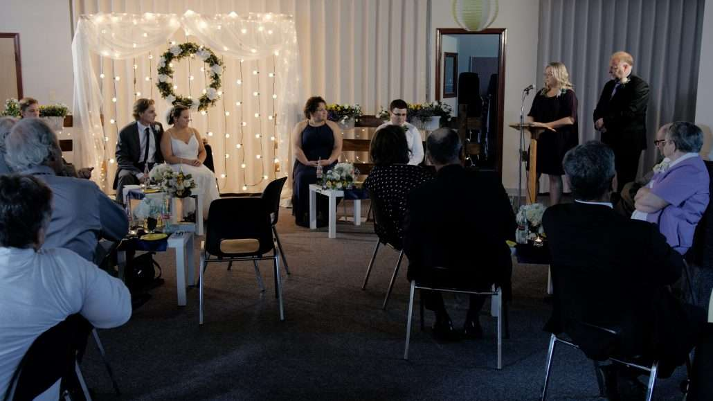 Calgary wedding videographers film reception video