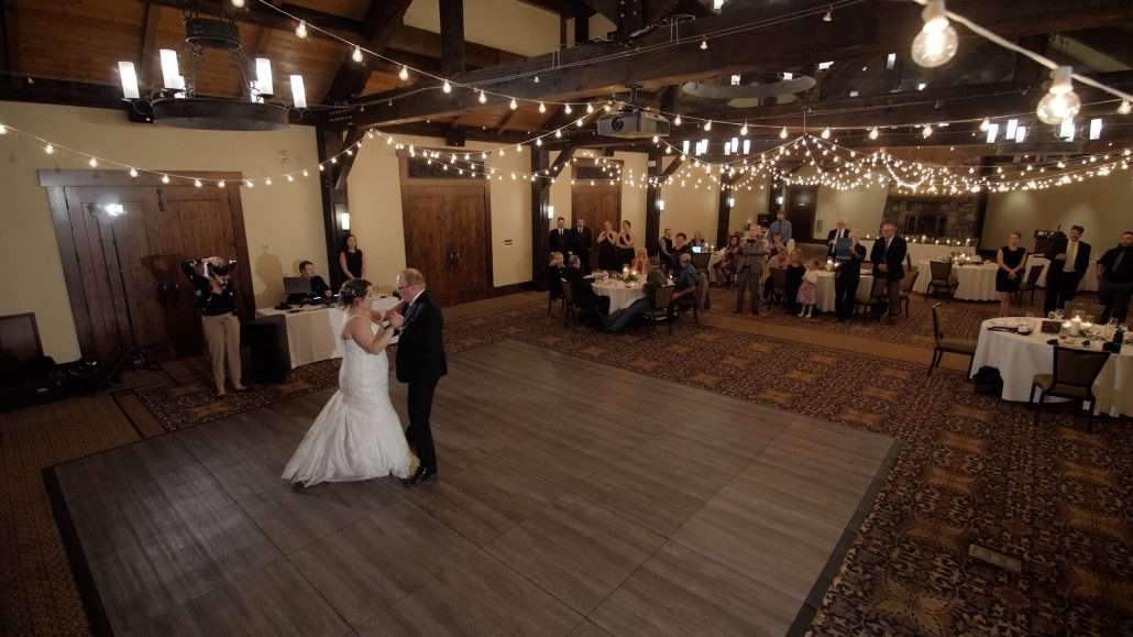 Silvertip Weddings Videography for reception