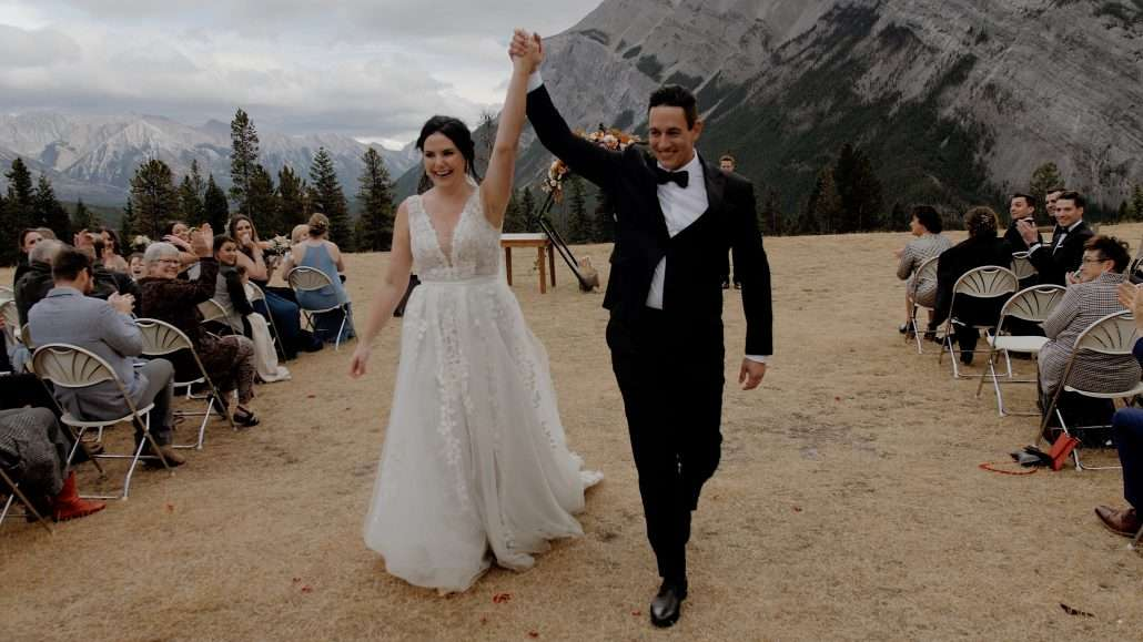 Tunnel Mountain Banff elopement wedding video