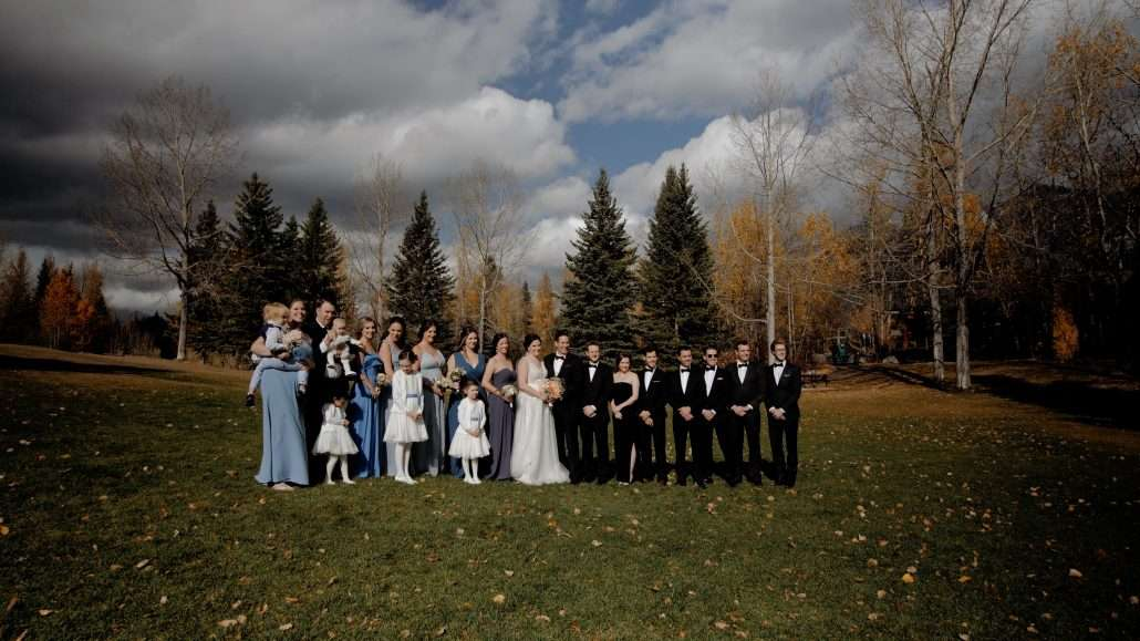 Wedding party in Canmore